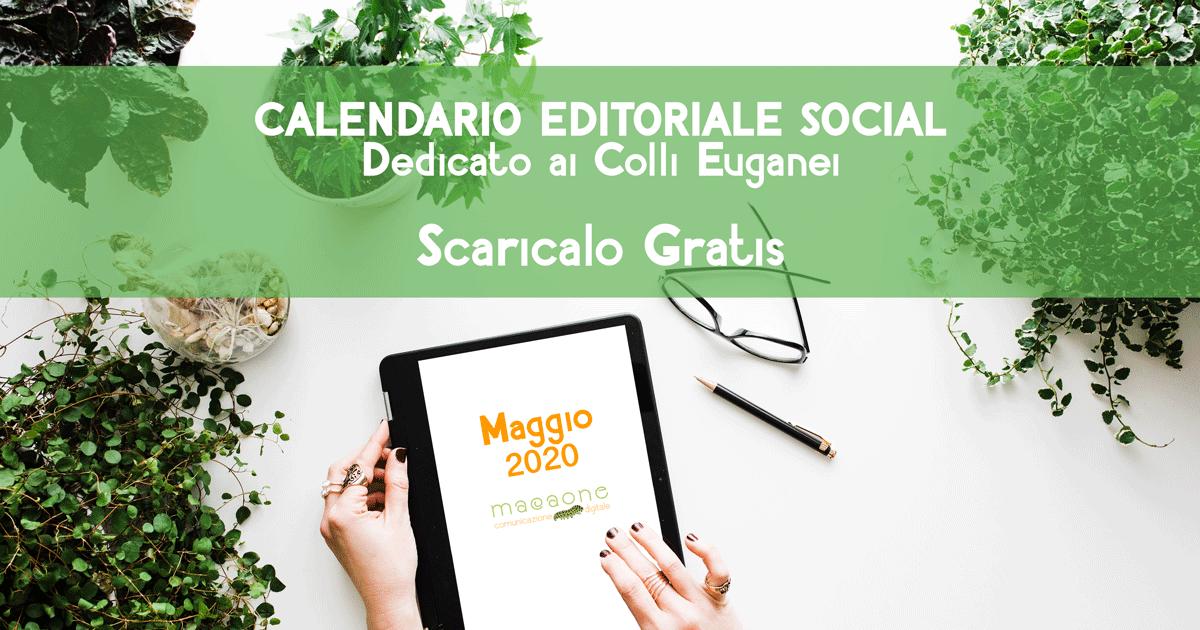 calendario editoriale social network